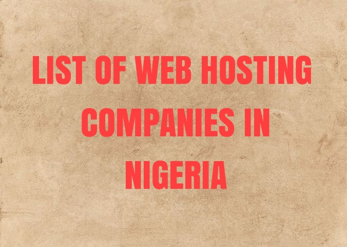 list of web host in nigeria